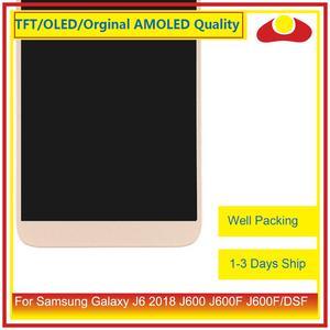 Image 4 - 50 Pcs/lot DHL pour Samsung Galaxy J6 2018 J600 J600F J600FN affichage à cristaux liquides avec écran tactile numériseur panneau approvisionné