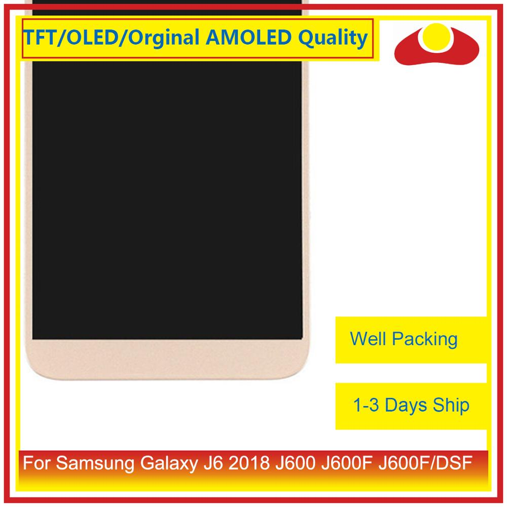 "Image 4 - ORIGINAL 5.6"" For Samsung Galaxy J6 2018 J600 J600F J600FN LCD Display With Touch Screen Digitizer Panel Pantalla Complete-in Mobile Phone LCD Screens from Cellphones & Telecommunications"