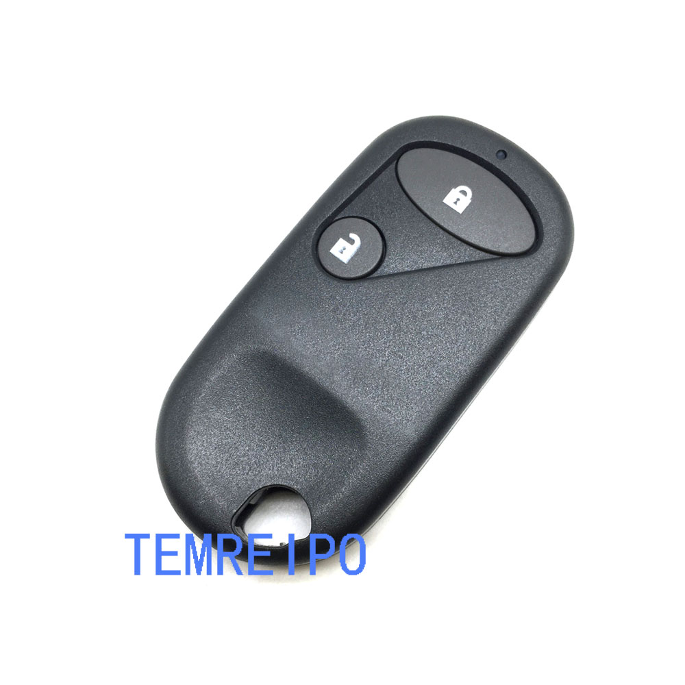 20pcs/lot 2 Buttons Remote Car Key Shell For Honda Civic Jazz with battery place No Chip Replacement Cover Case FOB Keyless Card image