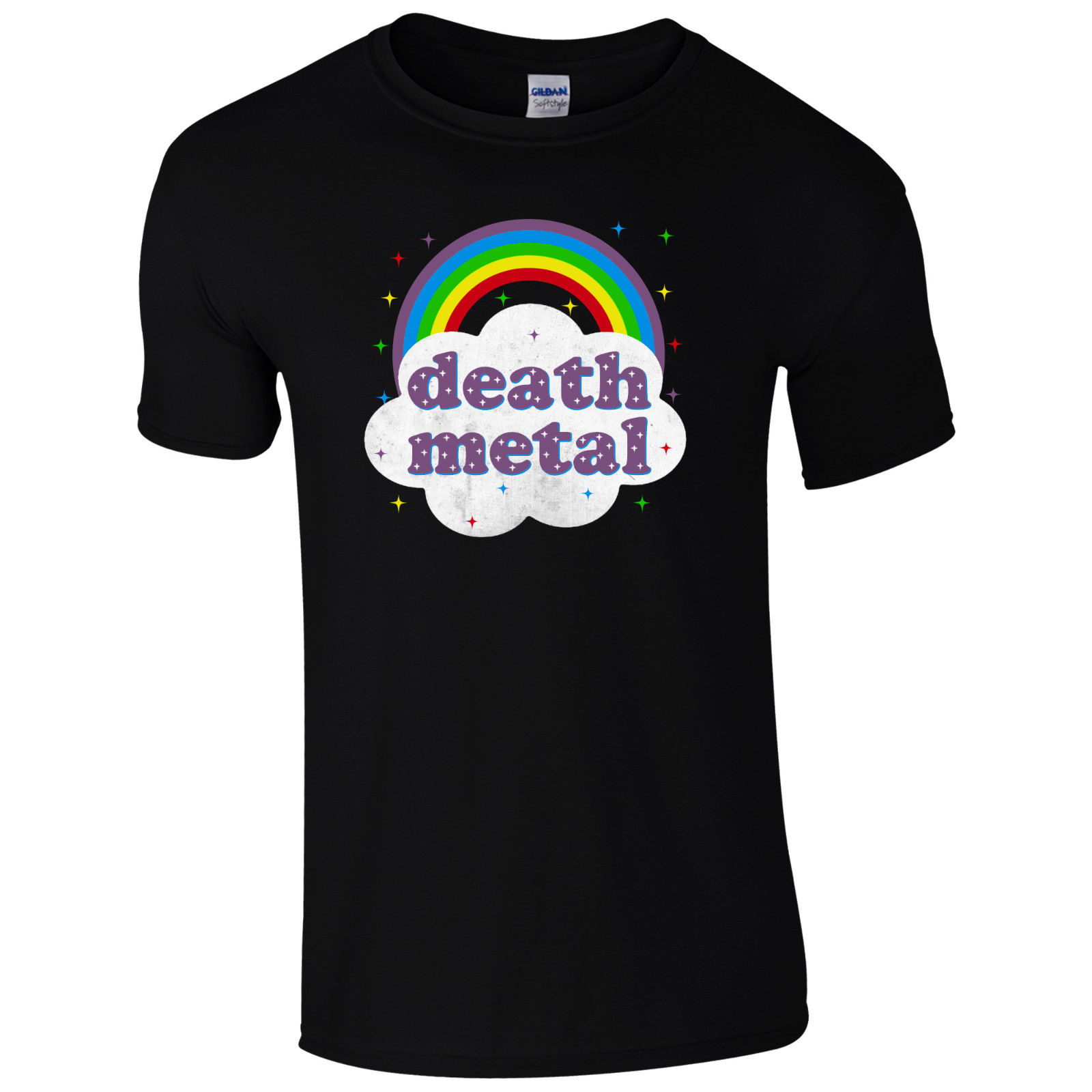 Death metal regenbogen t-shirt-grunge rock festival säure glücklich geschenk männer top t-shirt...