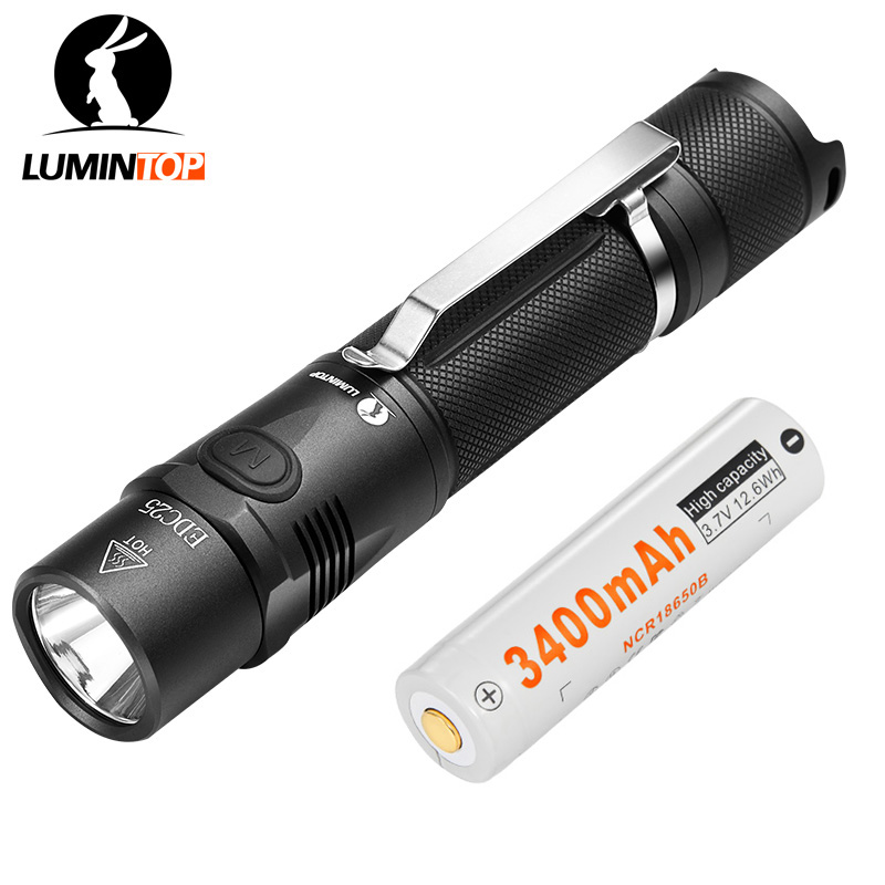 LUMINTOP  Rechargeable Tactical  Flashlight Max 1000 Lumen  CREE Torch EDC25+18650 Battery Mini  USB Torch lumintop rechargeable searching flashlight sd75 with 4pcs 18650 battery 4000 lumens cree xhp70 led free get lumintop px16