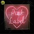 Неоновая вывеска для розовой этикетки неоновая лампа вывеска ручной работы стеклянная трубка прямая поставка Персонализированная неонова...