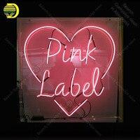 Неоновая вывеска для розовых этикеток неоновая лампа знак ручной работы вывеска стеклянная трубка дропшиппинг индивидуальный неоновый св