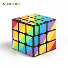 SINGDIO Unequal Magic Cube 3x3x3 Plicuri necoapte Pictate Cast Coated Puzzle Speed ​​Cube Educație Copii Professional Magic Neo Cube