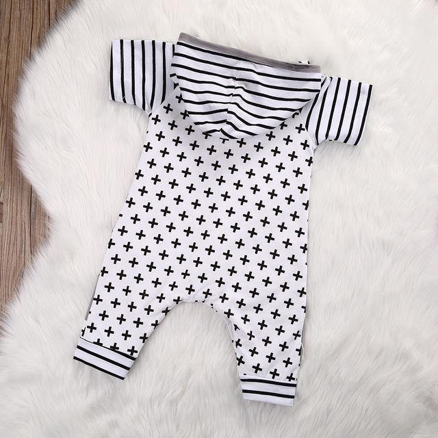Baby Boy Hooded Romper