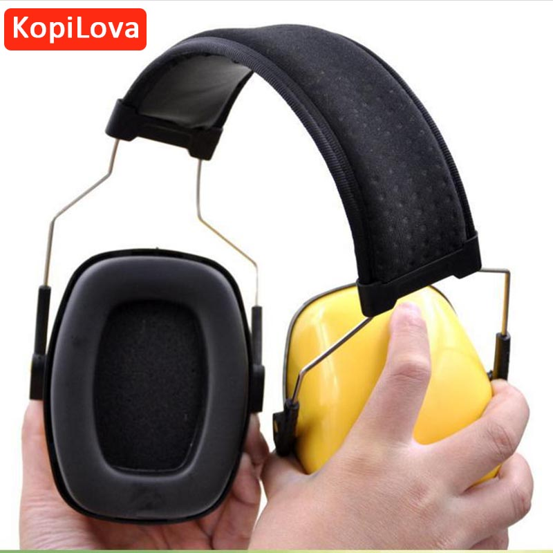 KopiLova Yellow Professional Hearing Protection Ear Muffs Noise Reducer Ear Protector Sound Proof Comfortable to Wear Earmuff