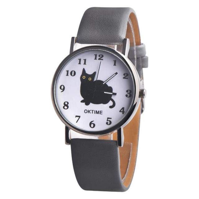 Women's Cat Printed Retro Style Watches