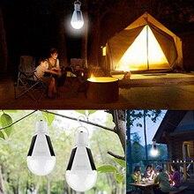 Tent Led-Bulb Outdoor Charger Travel-Lights Emergency-Solar-Lamp E27 110V 220V 7W Waterproof