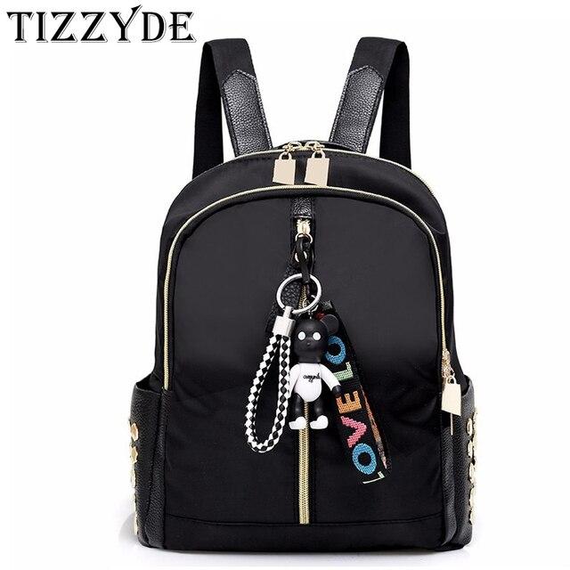 Bear pendant bag 2018 New women bag Girls Travel Mini Backpack Korean  travel shopping small backpack Fashion bag LLH691 a571f58cd79f4
