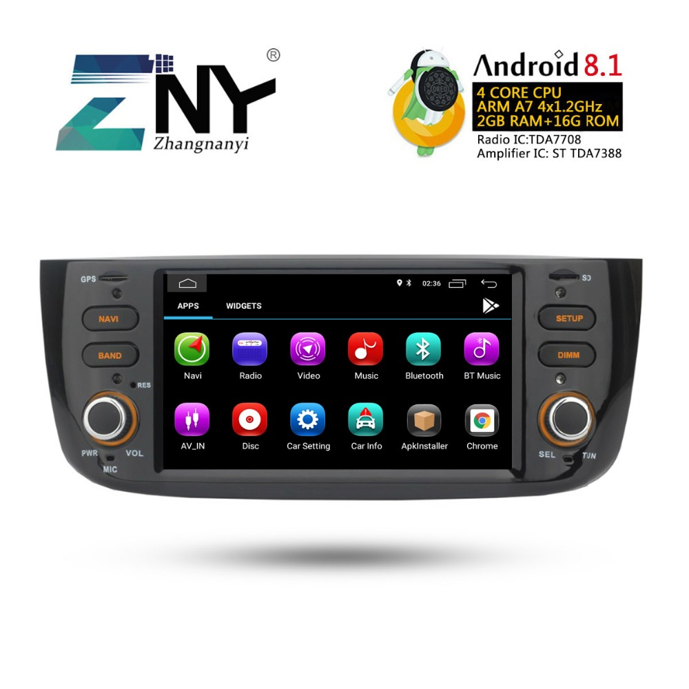 Image 5 - Android 8.1 Car Audio Video For Fiat Grande Punto Linea 2012 2013 2014 2015 Radio FM RDS WiFi GPS Navigation Rear Camera No DVD-in Car Multimedia Player from Automobiles & Motorcycles