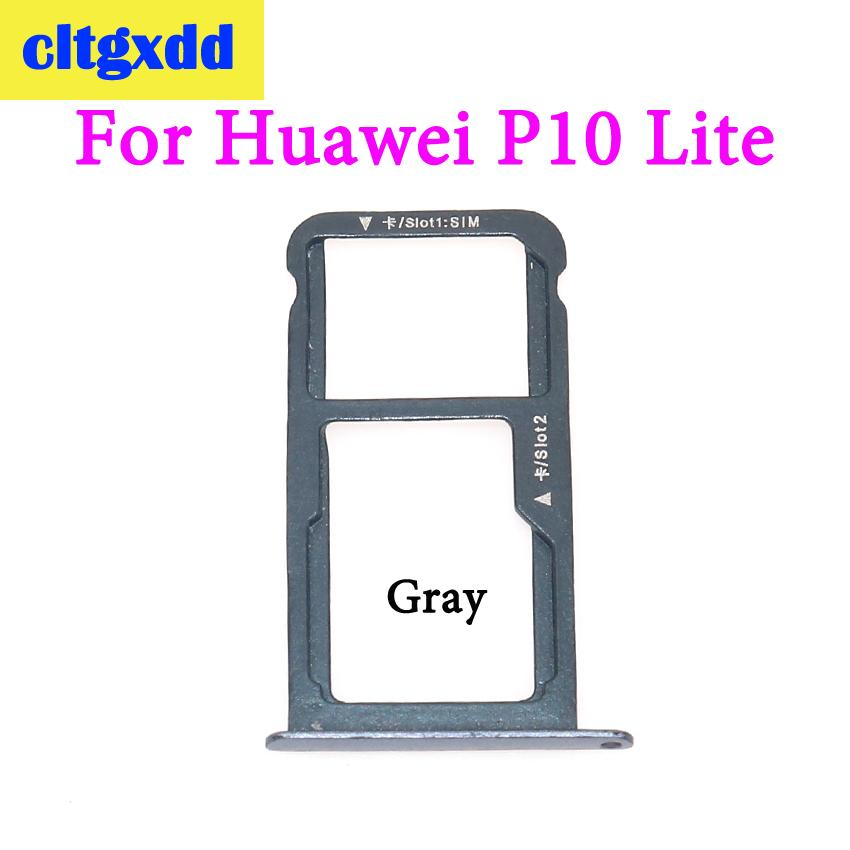 US $0 74 11% OFF|cltgxdd 1 pcs New For Huawei P10 Lite P10 Plus SIM Card  Tray & Micro SD Card Tray Holder Slot Adapter Dual SIM Replacement Parts-in