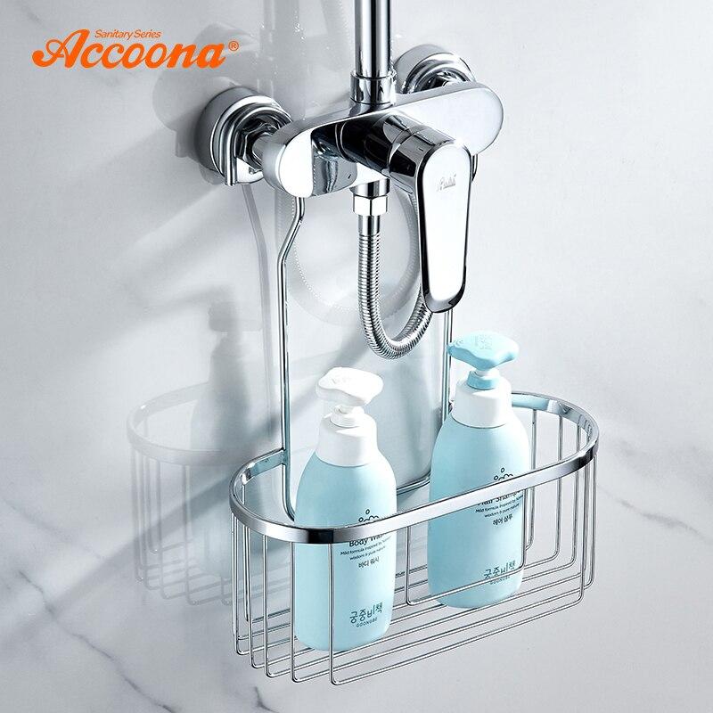 Accoona Bathroom Accesseries Shelf Shower Caddy Bath Storage Combo Organizer Basket For Shampoo Conditioner Soap Razor A293