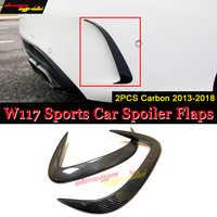 1 paar Auto Carbon Fiber Hinten Stoßstange Splitter Spoiler Canard für Mercedes Sport CLA W117 C117 X117 CLA200 CLA250 Für CLA45Amg 14-