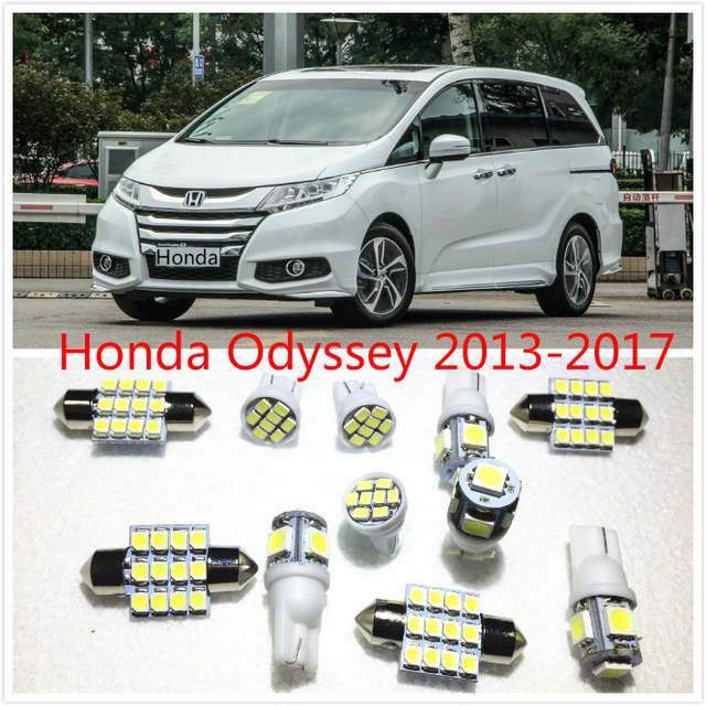 Placeholder 11 Set White Led Lights Interior Package Map Dome For Honda Odyssey 2017