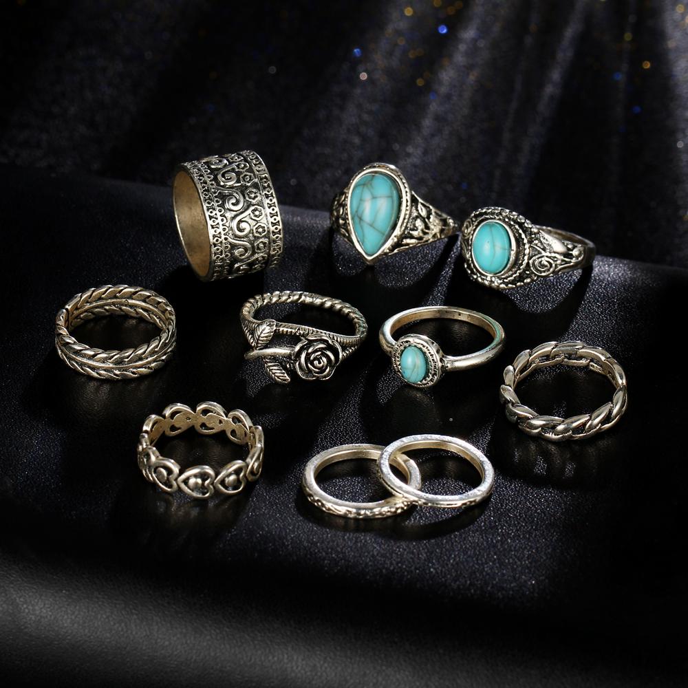 HTB18eKsRXXXXXacapXXq6xXFXXX5 10-Pieces Vintage Tibetan Turquoise Knuckle Ring Set For Women - 2 Colors