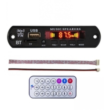 DC 12 V Bluetooth 4.0 lossless MP3 מפענח לוח MP3 APE FLAC נגן AUX TF כרטיס Fm רדיו לרכב רמקול שונה