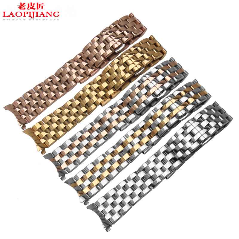 12MM 15MM 16MM 17MM 18MM 20MM 21MM 22MM General arc steel watchband butterfly fit men and women watch stainless steel bracelet