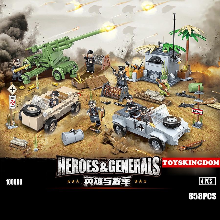 World war Military batisbricks building block germany army figures VW82 jeep w166 Armored car Antiaircraft gun