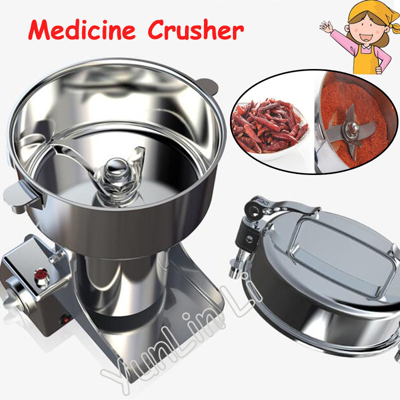 2200g Large Capacity Medicine Crusher Stainless Steel Electric Spices Pulverizer 220V Food Grinding Machine XY-2200B dry food grinder machine swing type electric grains herbal powder miller high speed spices cereals crusher w ce ccc