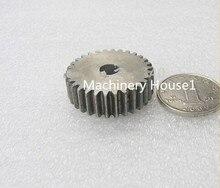 Spur Gear pinion 35T Mod 1 M=1 Width 10mm Bore 6 mm Right Teeth 45# steel positive gear CNC gear rack transmission motor gears