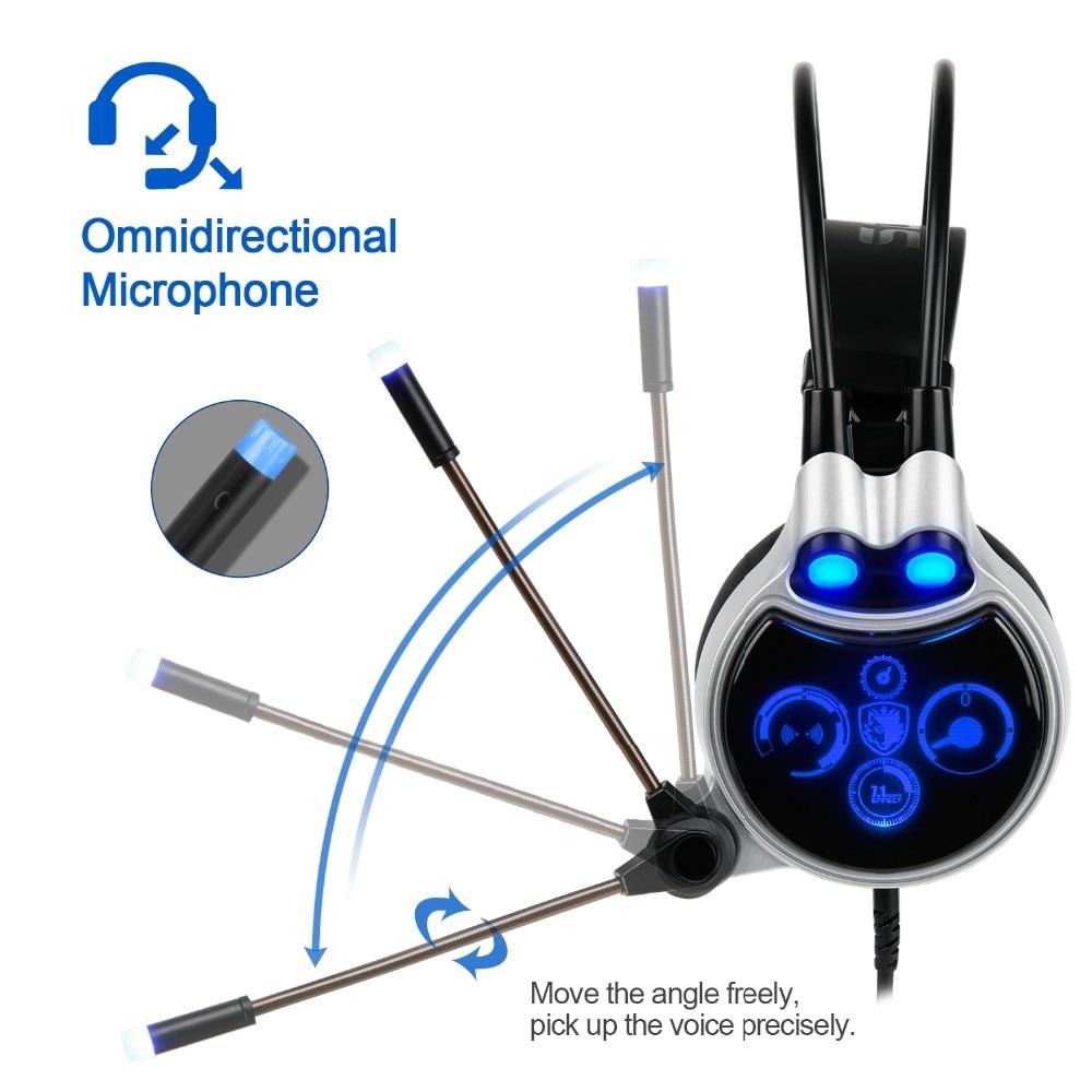 Sades R8 Gaming Headset headband USB 7.1 Surround Sound vezetékes - Hordozható audió és videó - Fénykép 5