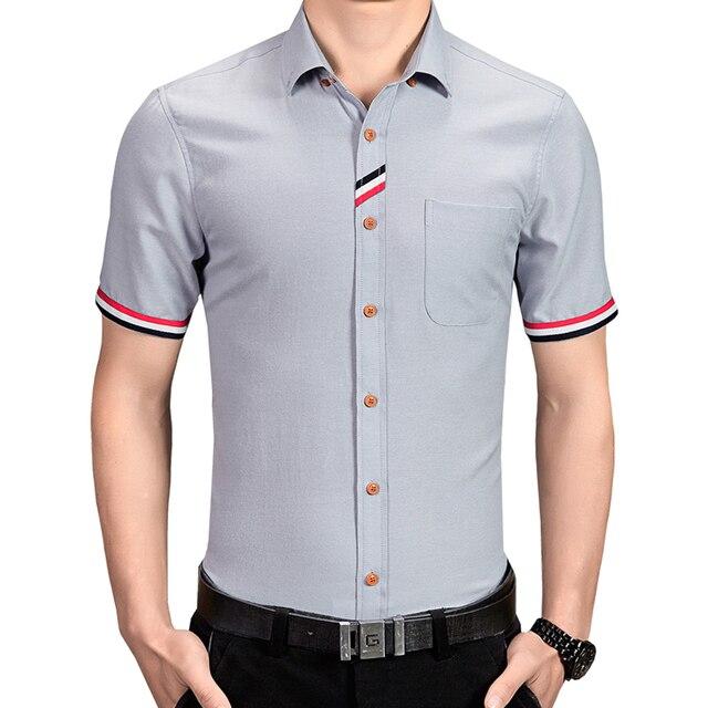 6066548c8 Primavera verano hombre camisas hombres calientes de la venta de manga  corta camisas de vestir hombre