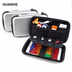 """GUANHE External Hard Drive Universal Portable Carrying Sleeve Case with Zipper Pocket for 2.5"""" External Hard Drives, GPS"""