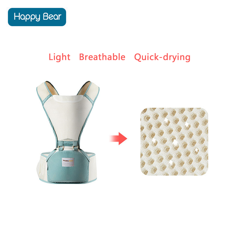 HappyBear Baby Carrier Mesh Design Oddychający kangury Plecak - Aktywność i sprzęt dla dzieci - Zdjęcie 5