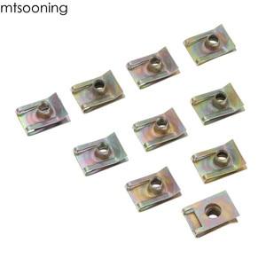 Image 2 - Mtsooning 10 sztuk 6mm M6 bieżnik Panel Spire nakrętka Fairing klip mocujący prędkość zacisk montażowy cynku dla VW