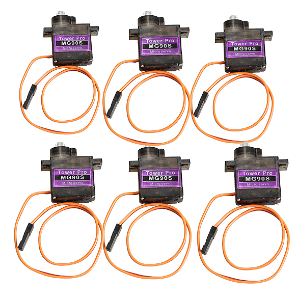 6pcs MG90S Metal Geared Micro Servo for RC Helicopter Airplane Car Boat  High Quality