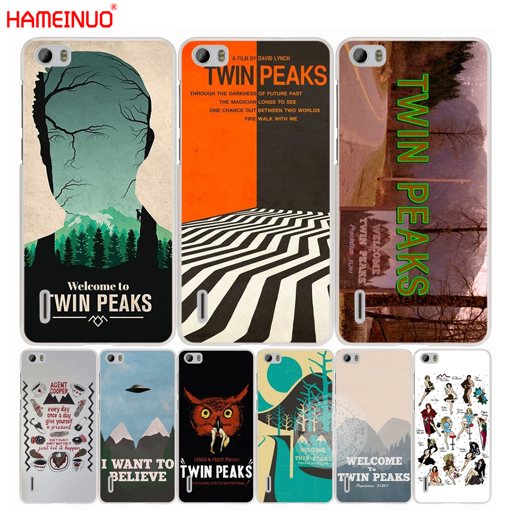 HAMEINUO Welcome To Twin Peaks cell phone Cover Case for huawei honor 3C 4A 4X 4C 5X 6 7 8 Y3 Y5 Y6 2 II Y560 Y7 2017