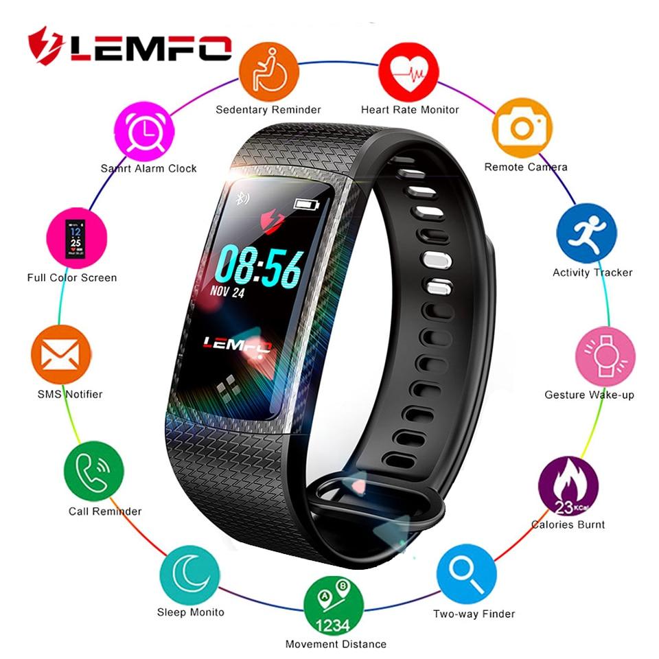 LEMFO LT01 Smart Bracelet Pedometer Waterproof Heart Rate & Blood Pressure Monitor Colorful Touch Screen Fitness Bracelet цена