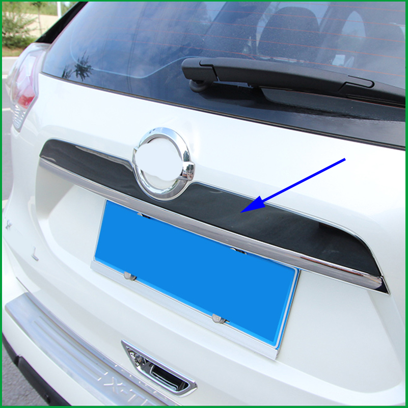 Car-styling Rear Trunk Lid Cover Trim For Nissan Rogue X-Trail T32 2014- 2017 Tailgate Boot Back Door Trim Hatch Molding Garnish цена