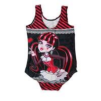 New Girls Kids Monster Cartoon Printing Swimsuit Tankini Swimwear Bathing Suit New Style Hot Sale Beachwear 5-10T Free Shipping