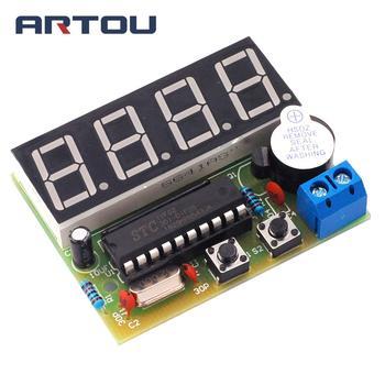 8e59736c35db C51 4 Bits reloj electrónico producción electrónica Suite Kits DIY C51 reloj  electrónico