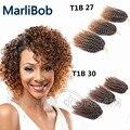 Hot Sale 3 pçs/set 8-10 polegada Marlibob Torção Kinky sintético tranças de crochê cabelo ombre cabelo crespo trança de Crochê Extensões de cabelo