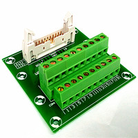 IDC20 2x10 Pins 0 1 Male Header Breakout Board Terminal Block Connector