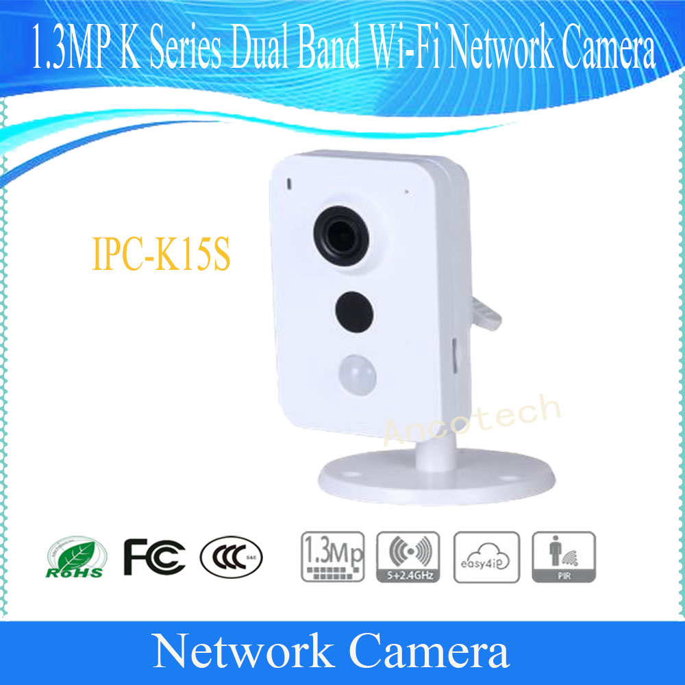Free Shipping DAHUA Security WIFI Camera 1.3MP K Series Dual Band Wi-Fi Network Camera without Logo IPC-K15S tp link wifi router wdr6500 gigabit wi fi repeater 1300mbs 11ac dual band wireless 2 4ghz 5ghz 802 11ac