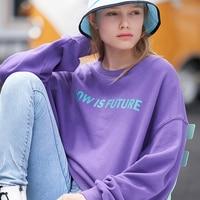 Toyouth Frauen Sweatshirt Warme Winter Hoodie Herbst Harajuku Casual Tops Brief Print Langarm Pullover Weibliche Trainingsanzug 2019