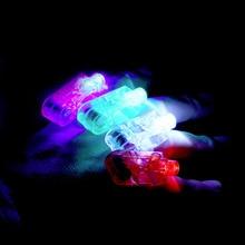 Hot 4pcs Party LED Finger Light Laser Finger Beams Ring Torch For Wedding Celebration Mix Color Decoration Lighting hot sales