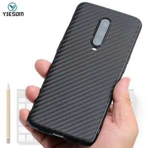 Carbon Fiber Case For Oneplus 7 Pro One Plus 6 6T 5T 7T Pro Soft TPU Silicon Cases For One plus 7 7Pro 1+7 7T Protective Cover(China)