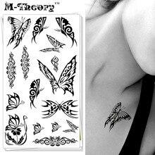 M-theory Sexy 3D Butterfly Body Makeup Temporary 3d Tattoos Sticker Henna Body Arts Flash Tatoos Tatouage Tatto Tatuagem Sticker