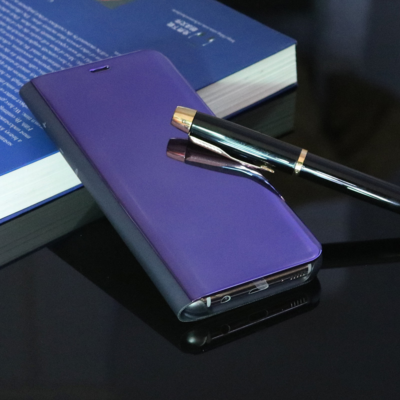 designer fashion 706d8 2898c US $31.41  Smart Chip Case For Samsung Galaxy Note8 S9 S8 S8Plus Smart Chip  Clear View Stand Cover Case for Samsung S6 S7 Edge Mirror Case on ...