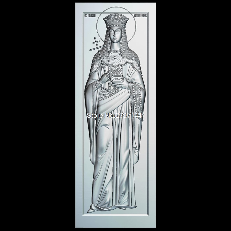 Icon Of St. Helena 3d Model For Cnc STL Format Religion 3d Relief Model STL Router 3 Axis Engraver ArtCam