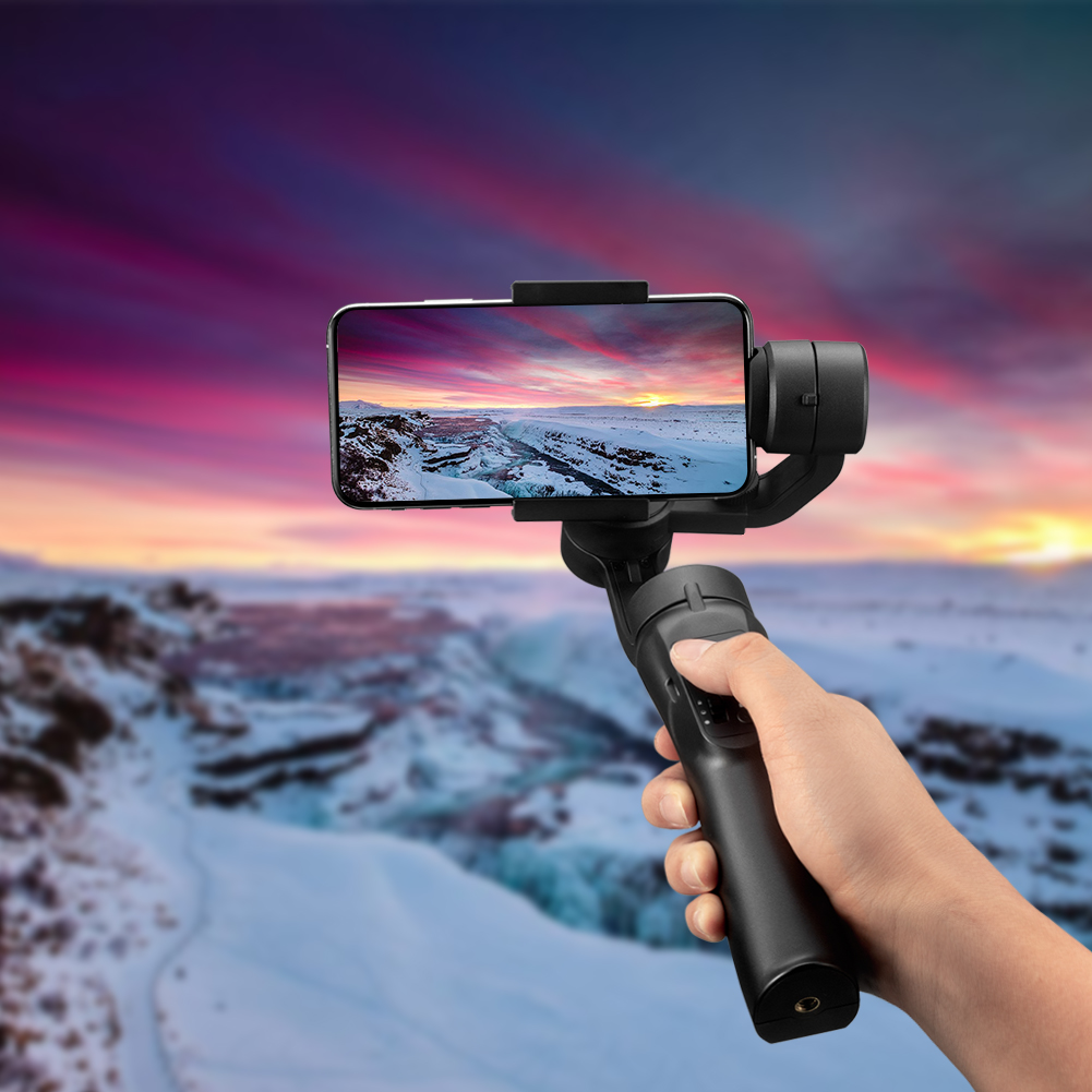 Handheld Gimbal Stabilizer Selfie Stick Stabilizer Smart Phone Holder Portable Mobile Gimbal Travel For iPhone Samsung-in Tripod Heads from Consumer Electronics    1
