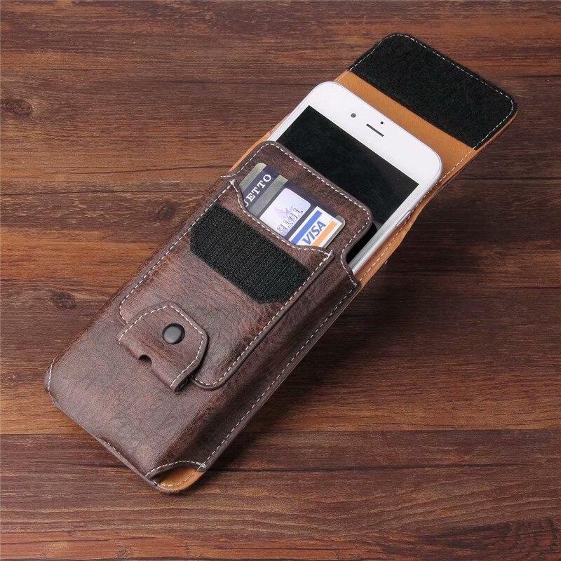 Universal del teléfono celular de cuero cintura cinturón Clip de bolsillo con ranura para tarjeta para Doogee S90 Y8 Y7 más X60 x80 X11 X10s X60L