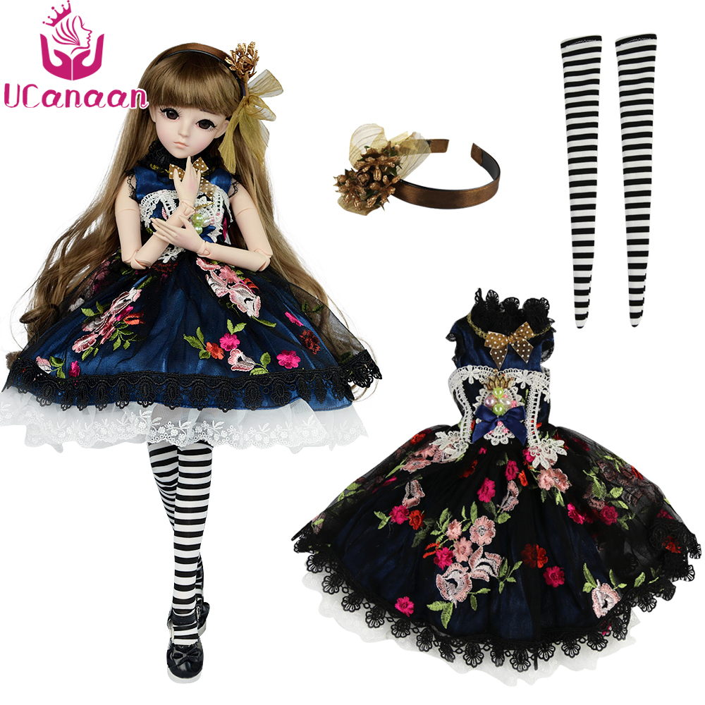 UCanaan 1/3 BJD Clothes Set High Quality SD Dolls Accessories For Girls Dressup DIY Toys ( Just Clothes Set , Not Include Doll ) beioufeng 1 3 1 4 1 6 sd bjd doll clothes include shirts black skirt and tie student uniform bjd clothes for dolls accessories