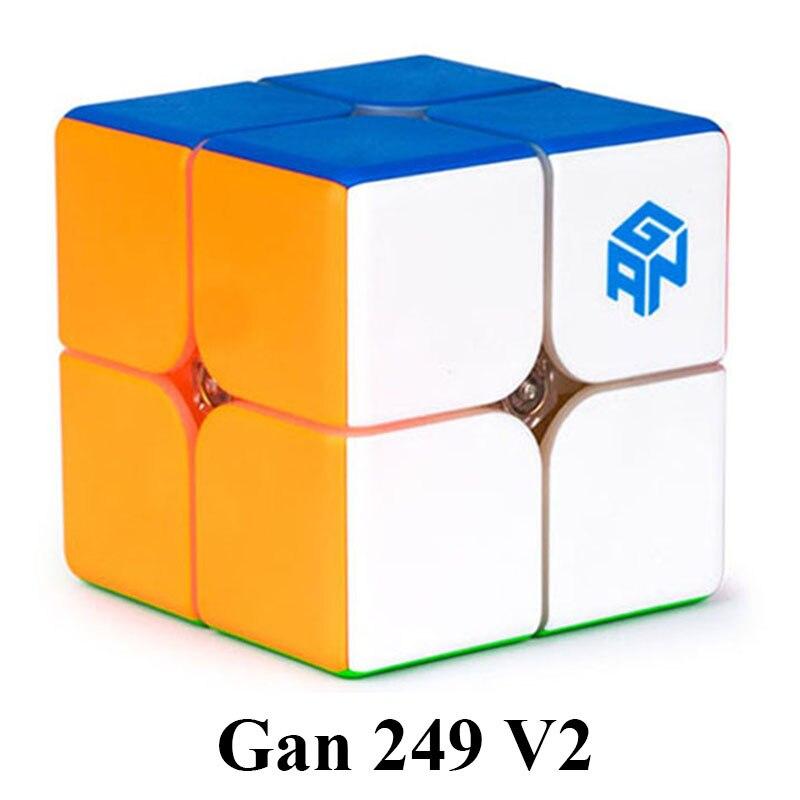 Original Gan249 V2 4.9cm 2x2x2 Speedcube Magic Cube Gan Air Gan 249 V2 Gan Cube Puzzle Learning Educational Toys For Children alex lidow gan transistors for efficient power conversion