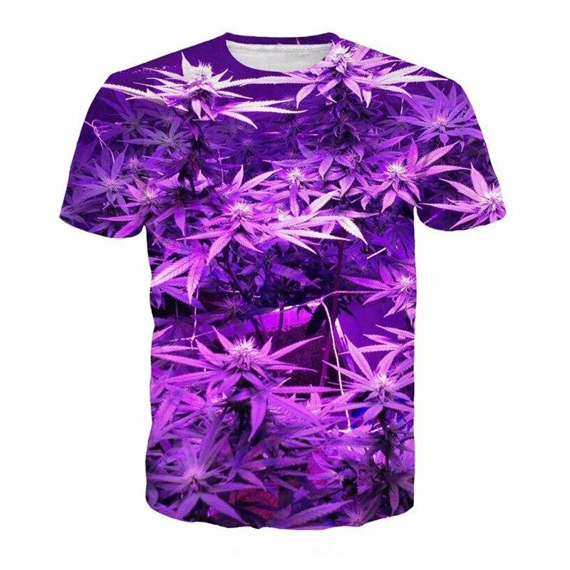 2017 Summer Weed Leaf 3D Print font b T shirts b font font b Men b