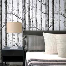 Деревянные обои рулон бумаги березовый лес обои рулоны комнаты ТВ фон